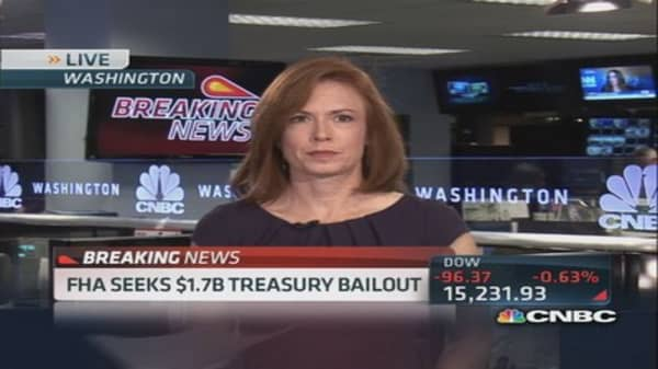 FHA seeks $1.7 Treasury bailout