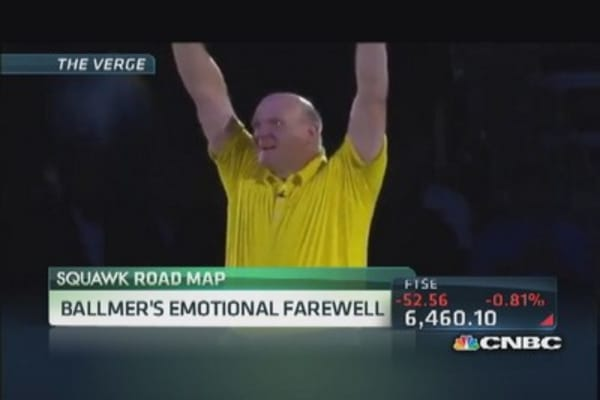 Ballmer's emotional farewell