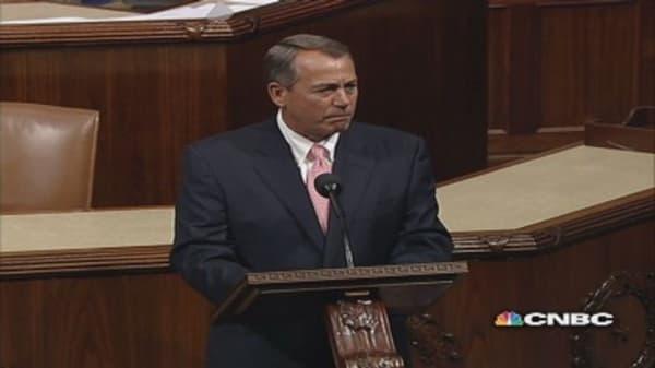 Boehner mocks Obama on House floor