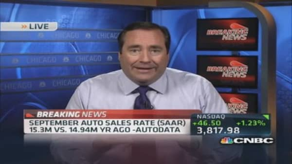 Sept. auto sales rate lower than year ago