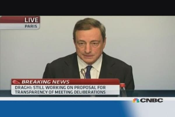 ECB collateral policy adapts to market: Draghi