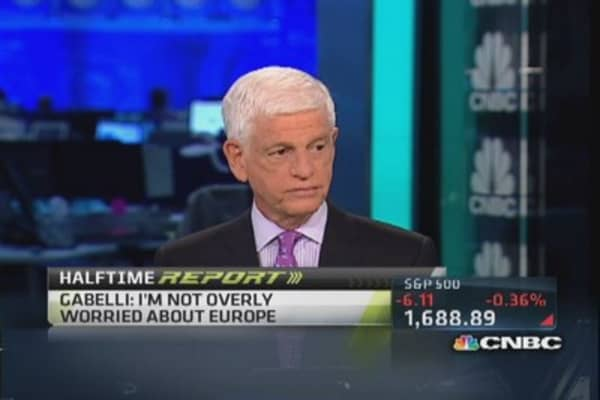 I don't like Europe, China, or anything: Gabelli