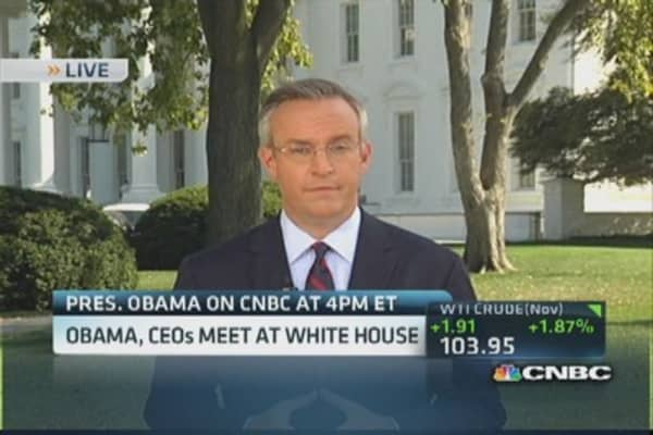 Wall St. CEOs meet with President Obama