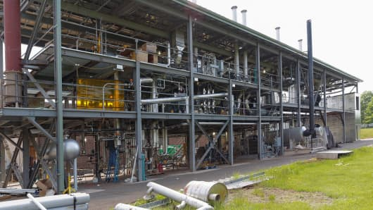 View from the north side of the demonstration plant.