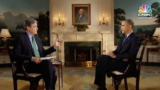 CNBC's John Harwood speaks with President Barack Obama on the government shutdown and stalemate in Congress.