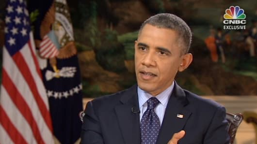 President Barack Obama speaks with CNBC's John Harwood on the government shutdown and stalemate in Congress.