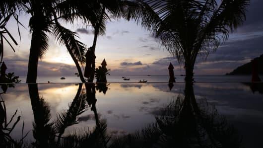Island of Koh Phangan off the coast of Koh Samui, Thailand.