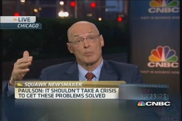 Paulson on what the economy needs