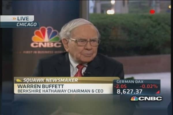 We will go up to the point of 'extreme idiocy': Buffett