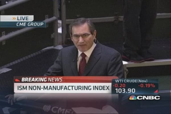 ISM non-manufacturing index 54.4