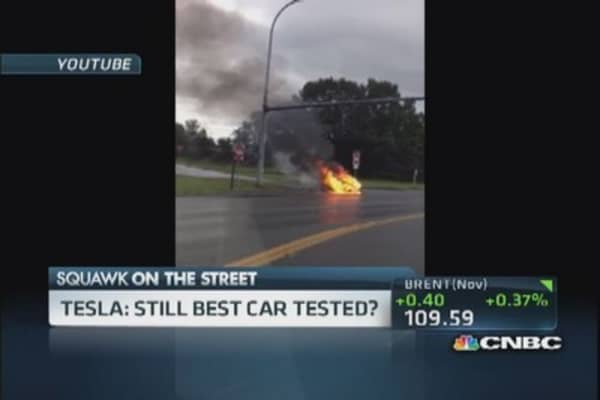 Tesla, 'safer than most' despite fire: Expert