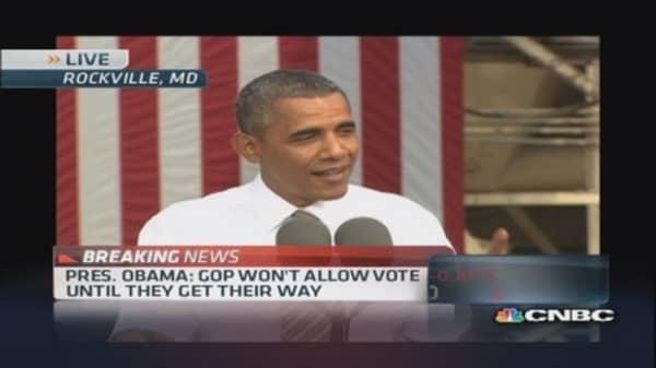 Pres. Obama: Take a vote and end this shutdown now
