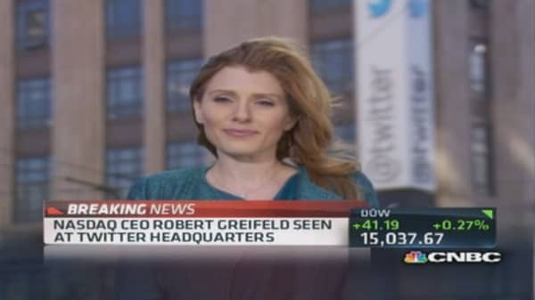 Why is Nasdaq CEO visiting Twitter?