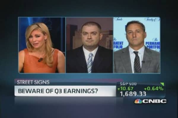 Beware Q3 earnings?
