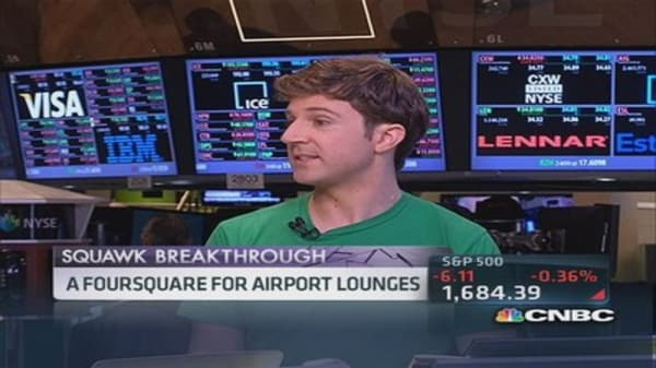 A Foursquare for airport lounges