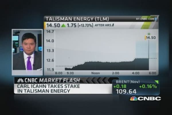 Carl Icahn takes stake in Talisman Energy