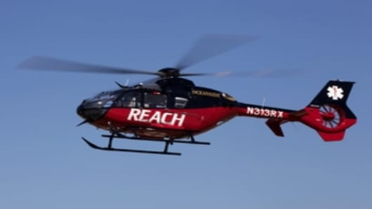 REACH's new EC-135 helicopter
