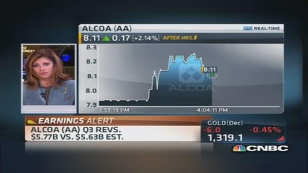 Alcoa reports Q3 earnings