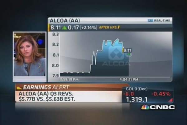 Alcoa reports Q3 earnings