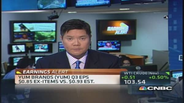 Yum Brands reports Q3 earnings miss
