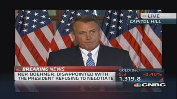 Boehner: 'Didn't come here to default on our debt'