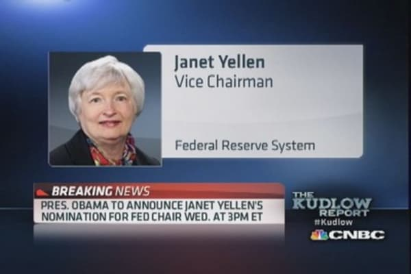 President Obama to nominate Yellen for Fed Chair