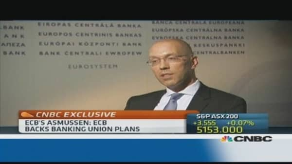 'Joint authority' needed for banking union: ECB's Asmussen