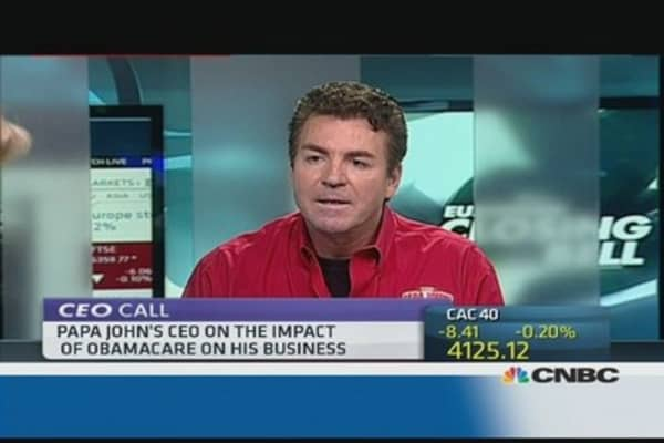 I'm OK with Obamacare: Papa John's CEO