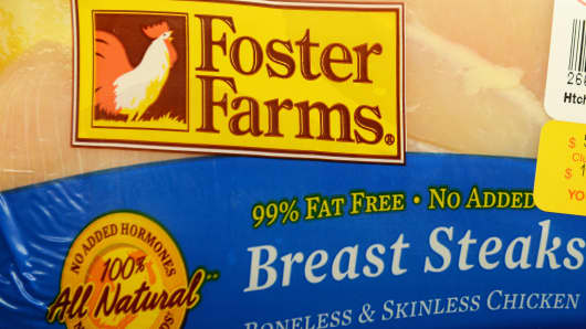 he U.S. Department of Agriculture said October 07 that it had issued a public health alert after raw chicken products produced by Foster Farms have sickened hundreds of people, the majority of whom are in California. Approximately 278 illnesses, caused by strains of Salmonella Heidelberg, were reported in 18 states. No deaths have been linked to the continuing outbreak.