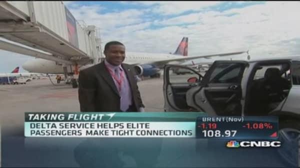 Delta targets elite passengers