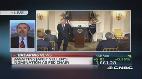 Put $ in stocks on Yellen nomination?