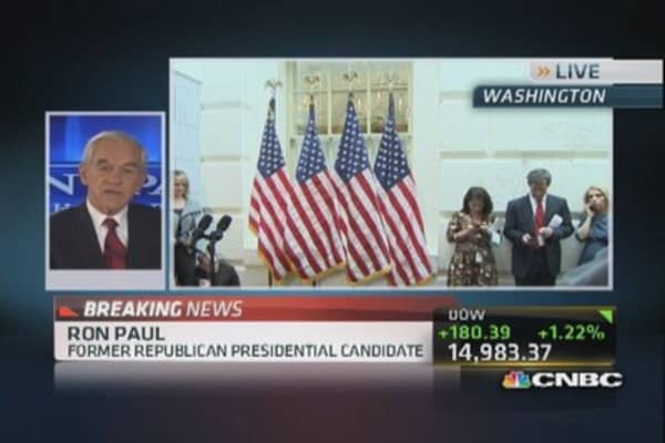Shutdown is not the real problem: Ron Paul