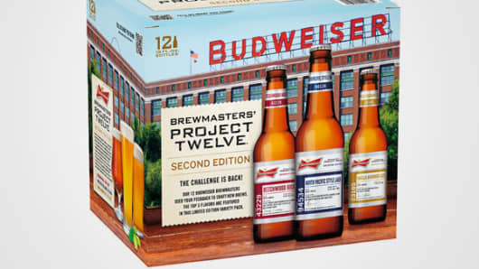 Budweiser's Brewmaster's Project Twelve case.