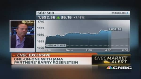 Jana Partners's Rosenstein: It's a relief rally