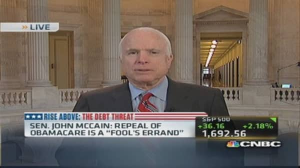McCain: More pressure on Republicans