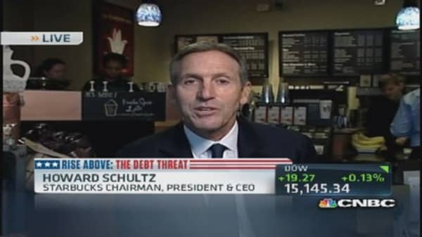 Starbucks' CEO: Short-term debt deal is 'fool's gold'