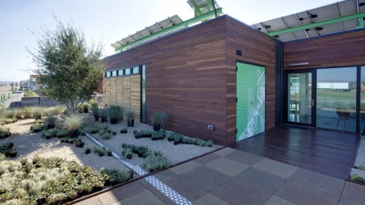 Team Capital's home of the future on display during the Department of Energy's Solar Decathlon.