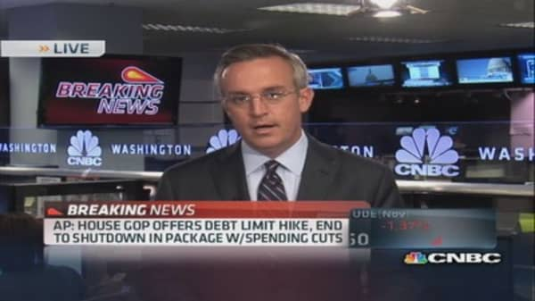 GOP offers debt limit hike