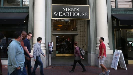 A Men's Wearhouse retail store on October 9, 2013 in San Francisco, California.