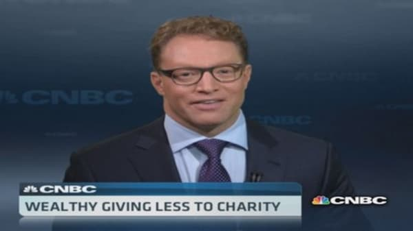 Why the rich are donating less