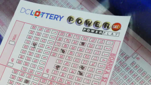 D.C. Powerball form
