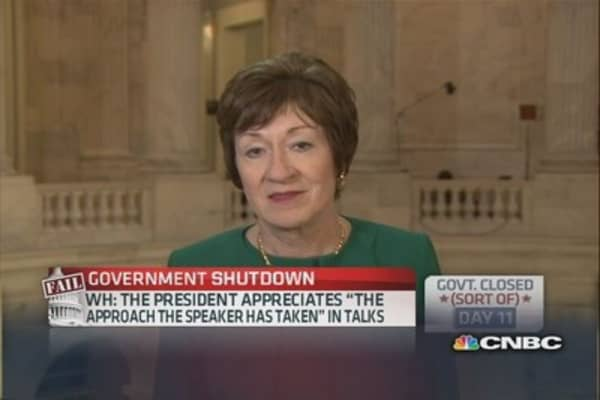 Debt limit should be extended through Jan. 1: Sen. Collins