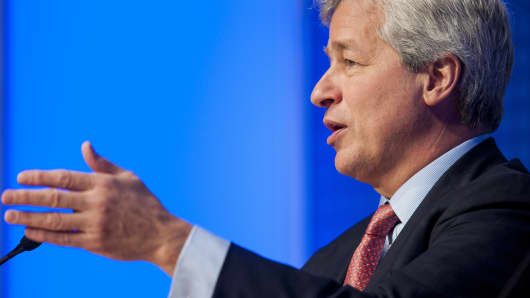 JPMorgan CEO Jamie Dimon speaks at the Institute of International Finance Annual Membership Meeting, Oct. 12, 2013.
