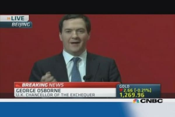 Osborne: Goal is to increase Chinese investment