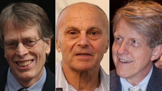 Peter Hansen, Eugene Fama, and Robert Shiller, are winners of the Nobel Prize in Economics.