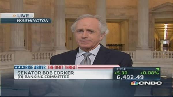 Debt deal may pass Senate but House is a 'wildcard': Sen. Corker