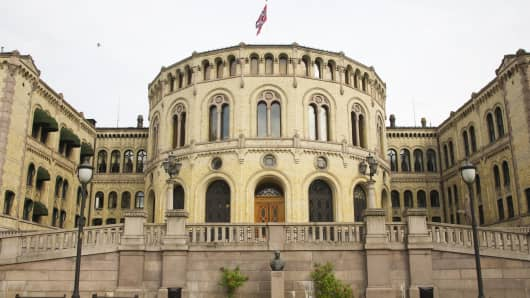 Parliament building, Oslo, Norway