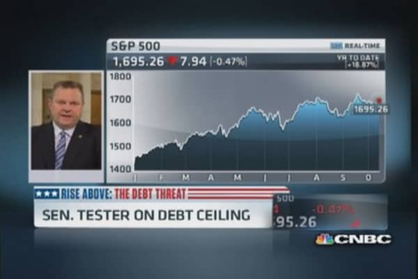 Lawmakers playing with fire on debt ceiling: Sen. Tester