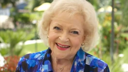 "Betty White from Air New Zealand ad ""Safety Old School Style"""