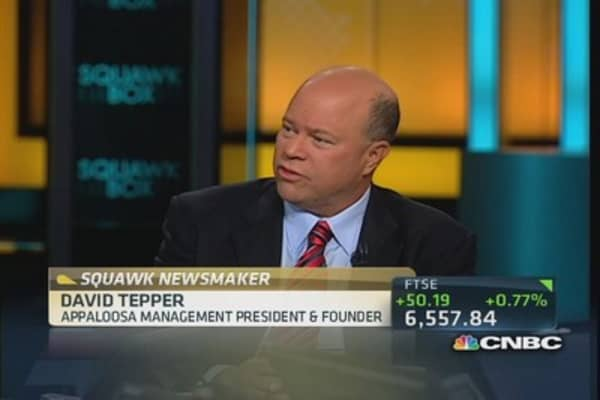 Tepper: Fed won't taper for 'a long time'